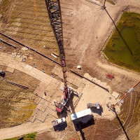 270 Ton All Terrain Crane Man Basket Shot