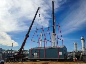Oilfield Construction Two 270 Ton All Terrain Cranes